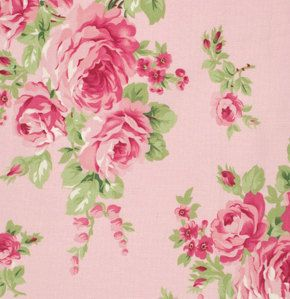 Tanya Whelan Bouquet Pink Barefoot Roses 1 Yard by chitchatfabrics, $9.25