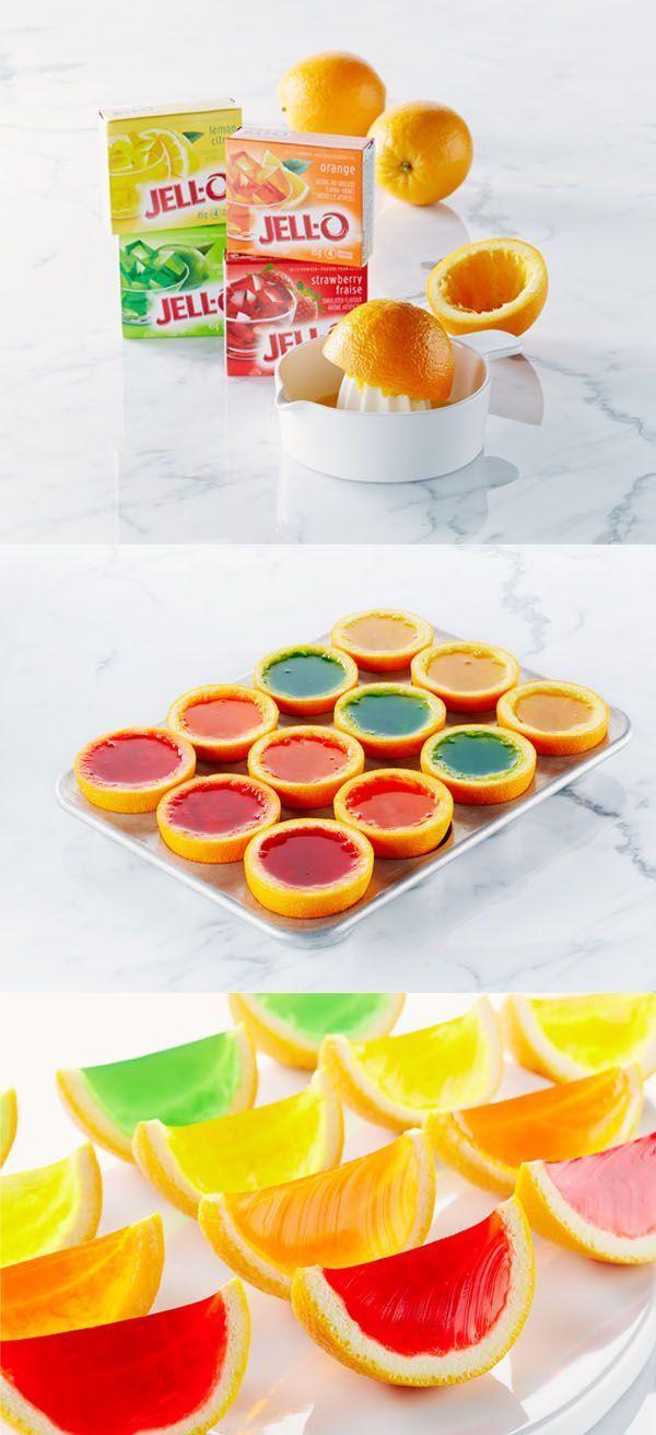 Jello Orange slices- how fun!!!