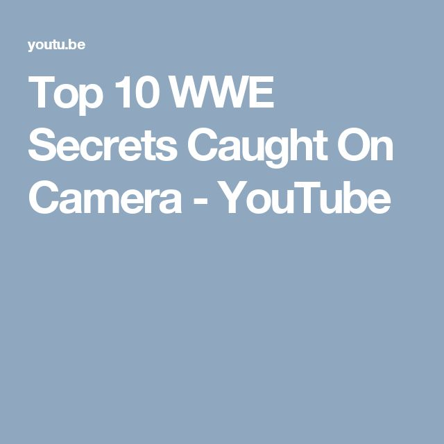 Top 10 WWE Secrets Caught On Camera - YouTube I quit watching wrestling in the early 2000's. After they ushered the Attitude Era of the late 90's - early 2000's out, their product went downhill, fast.