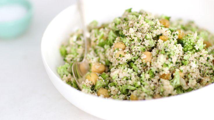 Brokkoli- und Rosinen-Couscous-Salat