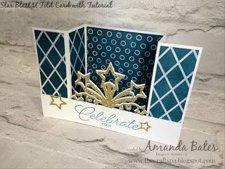 The Craft Spa - Stampin' Up! UK independent demonstrator : Multi-coloured Star Blast U Fold Cards...