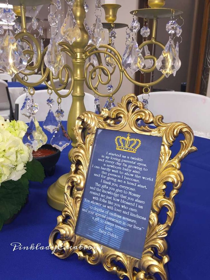 Royal Baby Shower Baby Shower Party Ideas | Photo 1 of 22