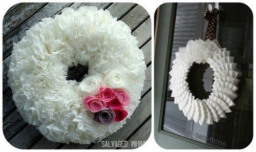Coffee Filter Wreath Tutorials and many, many more wreaths to make...