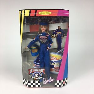 Vintage 1998 Mattel Barbie Doll NASCAR 50th Anniversary Collector Edition - New  | eBay