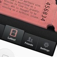 Movie app: Design Inspiration, Ui Design, Ios Tabs, Mobile Ui, Movie App, Iphone, Mobile Design