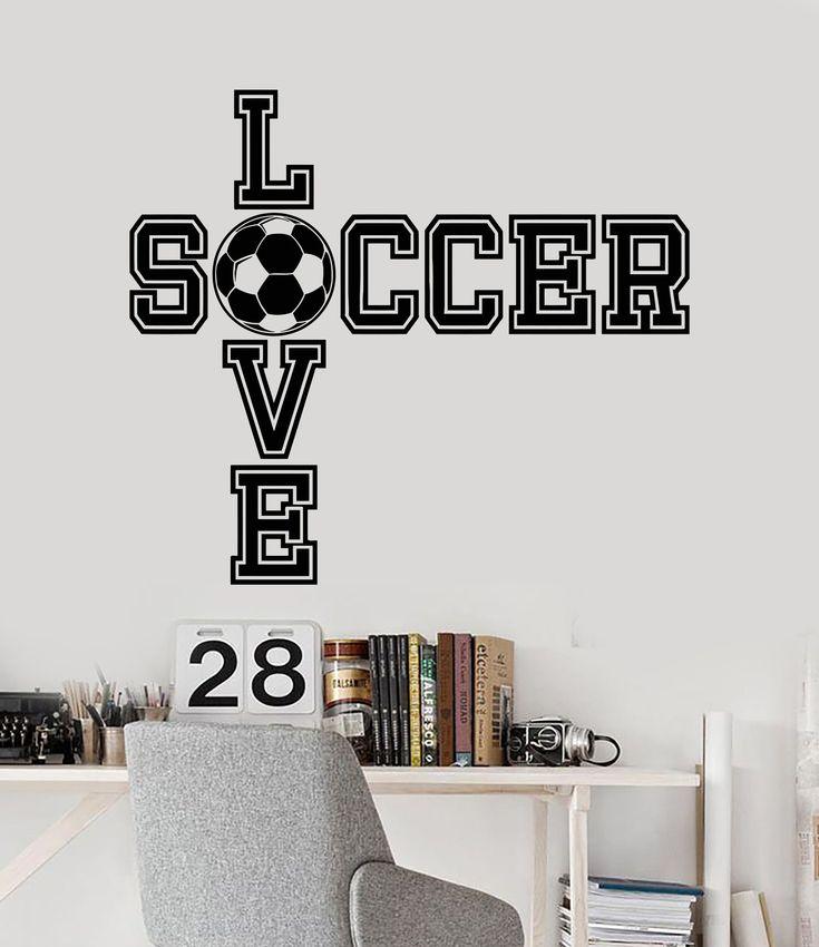 Vinyl Wall Decal Soccer Ball Quote Boy Room Sports Decor Art Stickers (ig3519) #soccerBoysandGirls