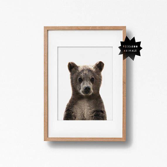 c1342db674724 Bear nursery decor, Baby bear print, bear nursery print, neutral ...