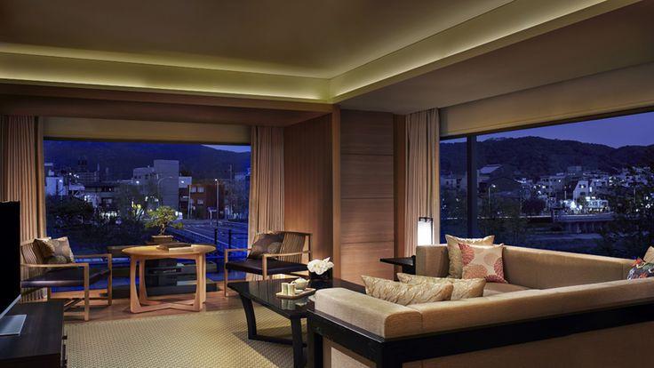 Corner Suite MINAMI - The Ritz-Carlton, Kyoto - Japan & Luxury Travel Advisor – luxurytraveltojapan.com - #Luxuryhotels #Kyoto #Japan #Japantravel #ritz-carlton