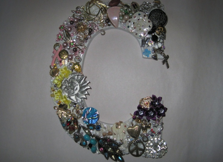 Recently I was asked to create a letter for a bride-to-be. The family collected jewelry from each family member and I presented this letter to her to display at her wedding in December. The bride LOVED it! I think the memory of each individual and their contribution to this creation was meaningful to her.