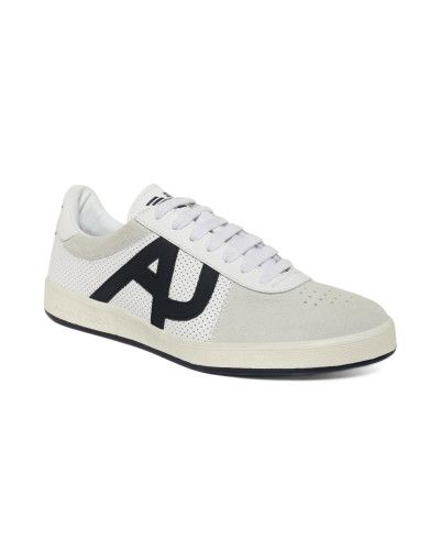 Armani Jeans | White Perforated Leather Sneakers for Men | Lyst