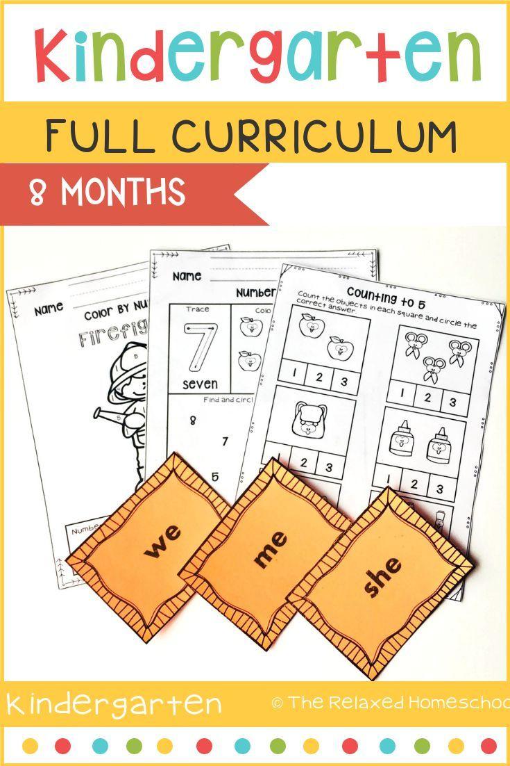 FULL Kindergarten Curriculum Bundle - 8 Months - NO PREP | Epic ...