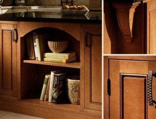 Inset Maple Kitchen Cabinets From Cliqstudios Were Used On This Custom Island Open Shelving Creates