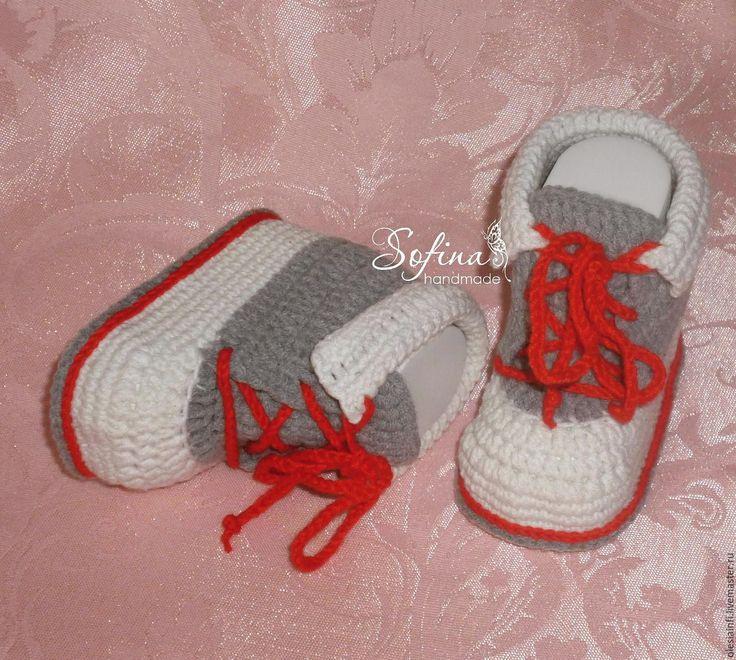 Купить Пинетки кеды №2, пинетки для новорожденных - комбинированный, пинетки, пинетки кеды, кеды, обувь