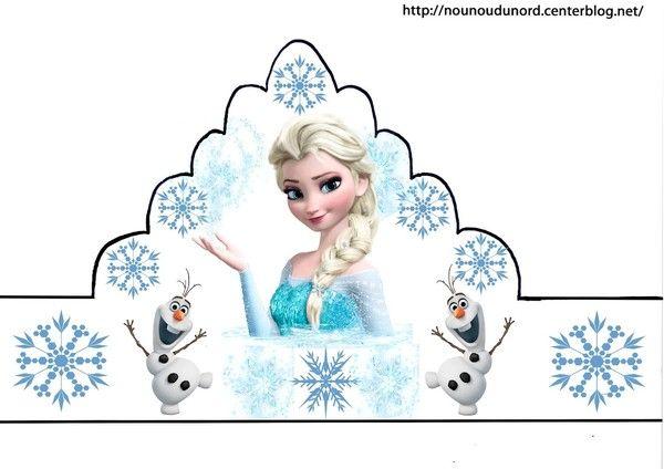 Couronnes reine des neiges en couleur,coloriage,gommettes