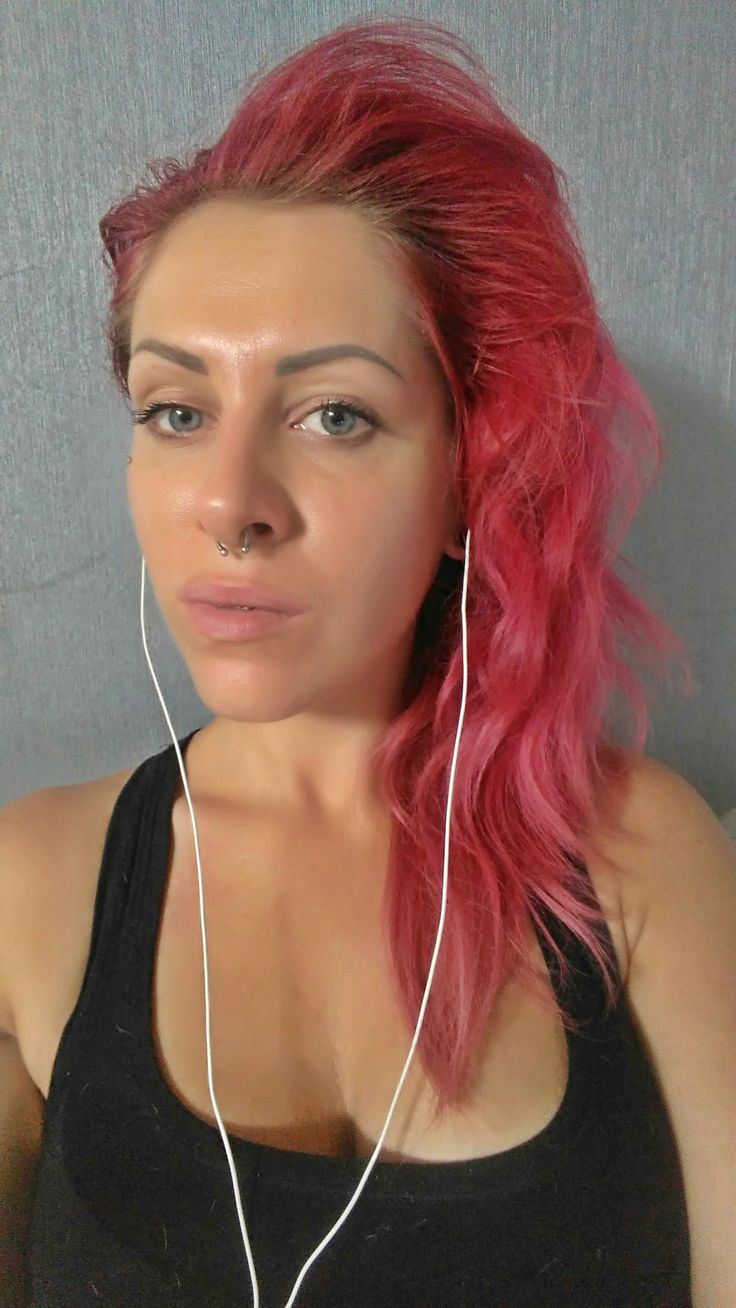pink head sexy lips piercing septum why so serious compton #dre dr dre compton blue eyes