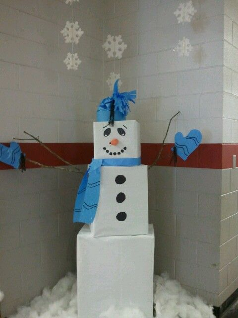 Giant Snowman I Made At School Its Just Large Boxes