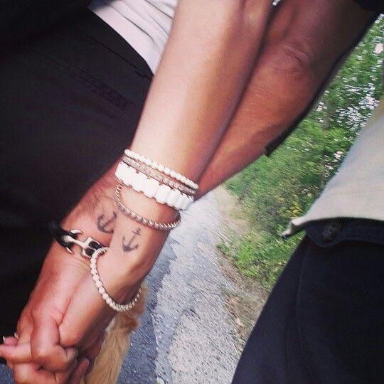 Couple anchor tattoo ❤⚓