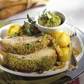 Carré de veau rôti, persillade à la moutarde Maille® #plat #gourmand #homme #veau #fete