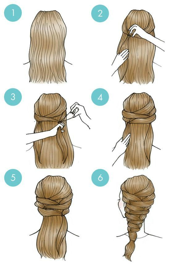 Easy Everyday Hairstyles Step By Step For Girls   Gym Route   Long hair styles, Hair styles