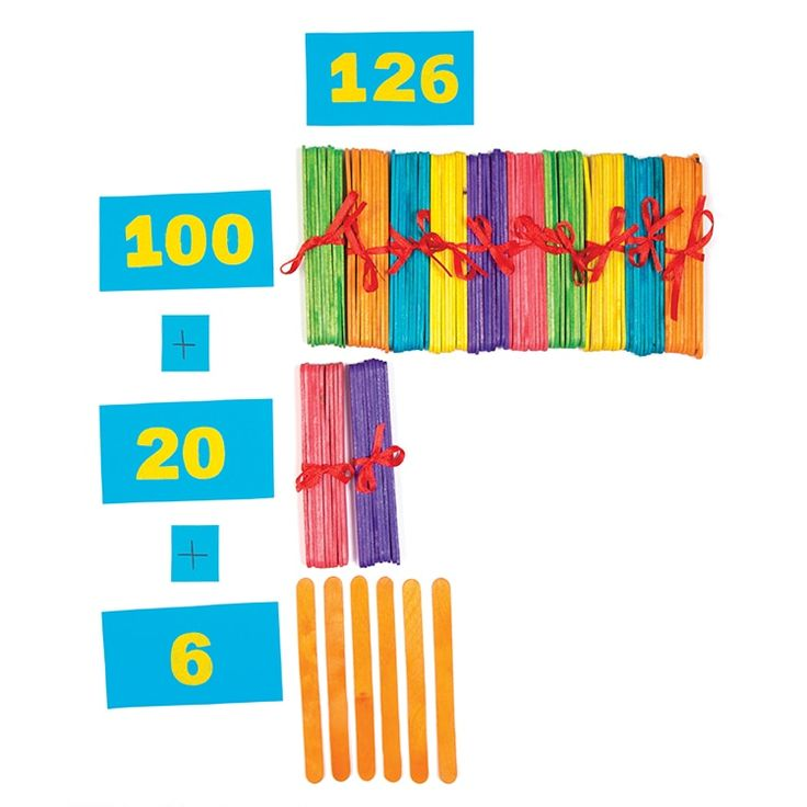 Use colourful bundles of lolly sticks to help children learn about the concept of number values with this fun yet easy-to-create game. Each bundle of lolly sticks represents a number value (tens) and children need to select the right number of bundles to match the number on each card!