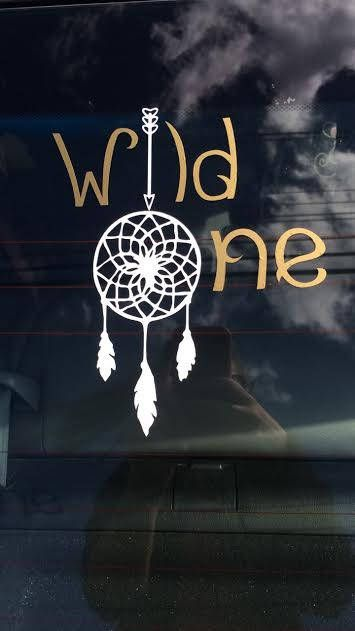 Wild One Car Decal | Tribal Decal | Hippie Car Decal | Dream Catcher Decal by LMVintageDesigns on Etsy