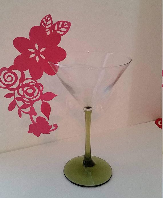 Wedding Wine Cup Card Flower glass Card Flower Place Card