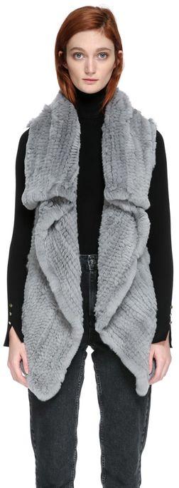 Velika Sleeveless Rabbit Fur Vest