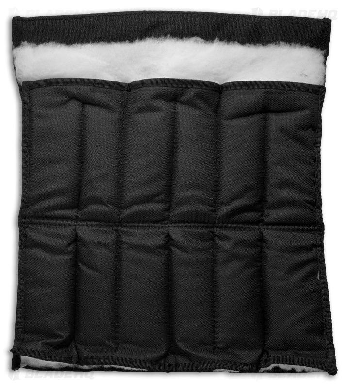 12 Knife Attache Storage Case Pouch (Black Nylon / Fleece Lined)