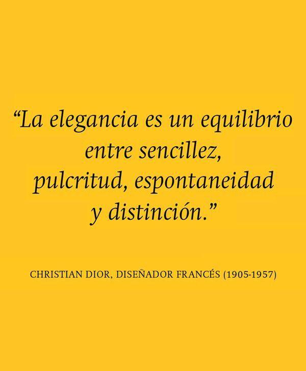 La elegancia- Christian Dior