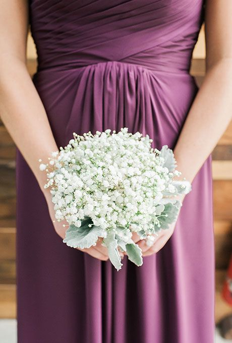 Brides: Baby's Breath and Dusty Miller Posy. A simple posy comprised of Baby's Breath and dusty miller, created by Spina.