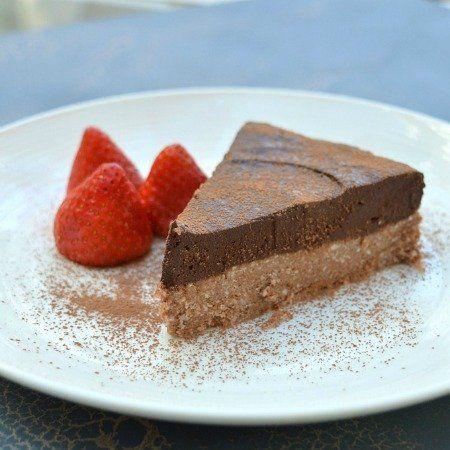 Thermomix Chocolate Orange Tart. Rich, decadent and chocolatey. Gluten free and refined sugar free.