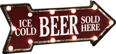 "Placca ""Beer"" con led"