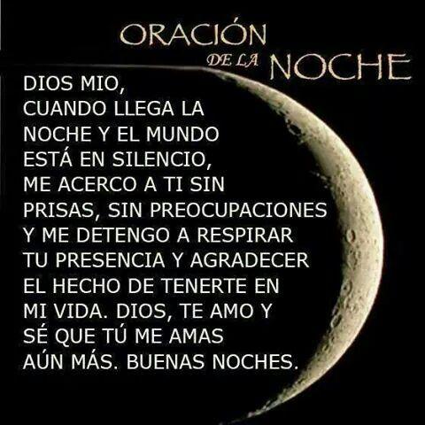 Oracion De La Noche Todo Un Poco Pinterest