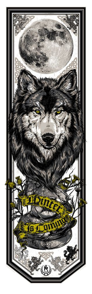"Game of Thrones: House Stark Banner (""Winter is Coming"") by Studio Seppuku"