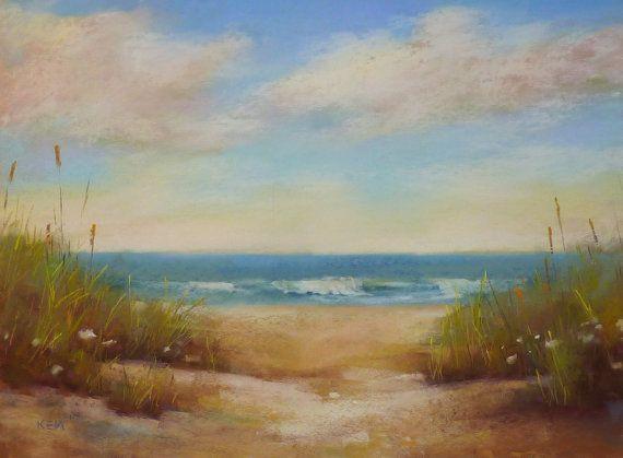 Ruhige Strand Düne SEASCAPE 18 x 24 Karen von KarenMargulisFineArt, $450.00