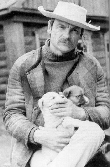Andrei Tarkovsky during the filming of Zerkalo (1975)