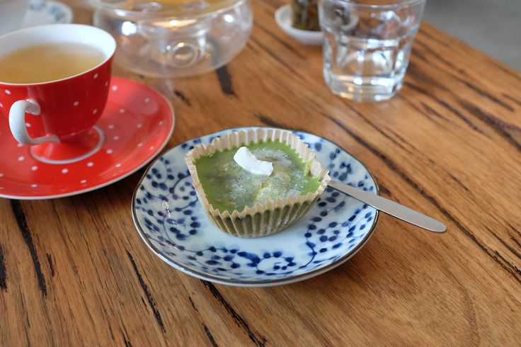 A chilled vegan matcha cheesecake - delicious! Had at Impala & Peacock!  #vegan #cheesecake #tea #matcha  #dairyfree  http://www.zincmoon.com/impala-peacock-tea-house/