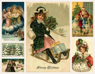 Christmas vintage: Christmas Cards, Moonlight Free, Christmas Collage, Christmas Printables, Free Images, Magic Moonlight, Christmas Re Printables, Christmas Gifts, September