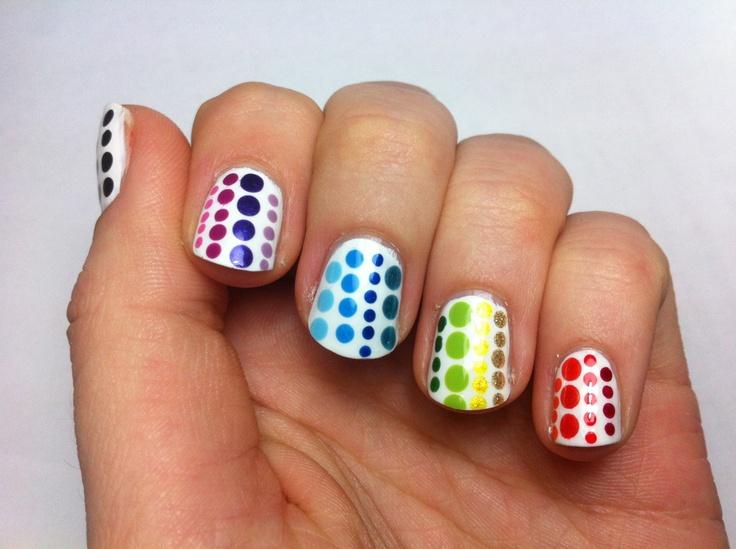rainbow dots of varying sizes