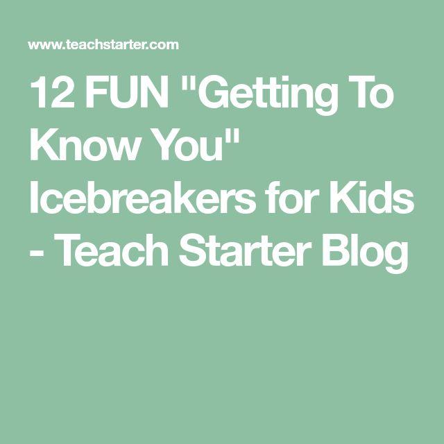 Best 25 Icebreaker Games For Kids Ideas On Pinterest