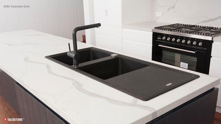 TALOSTONE | Calacatta Gold™ 9080 — Stone | Engineered Stone | Calacatta | Carrara | Kitchens | Benchtops | Bathrooms