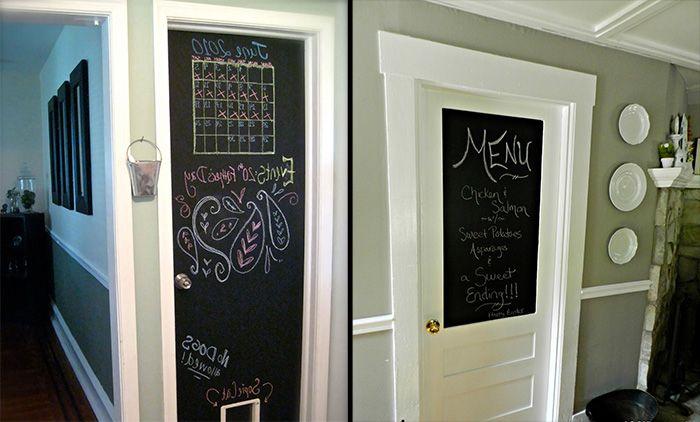 Доска для заметок на двери