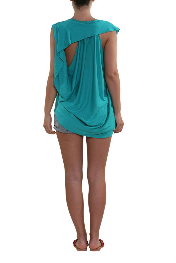 Cut Blouse  Simple chic blouse Simple front and draped back #greek4chic #ofilias
