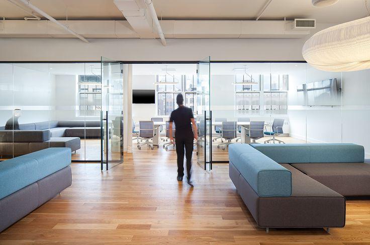 Grovo Office RenovationDesigner: Thomas Juncher Jensen from JIDKPhotographer: Peter Kubilus#grovoofficerenovation #tagwall #encore #jidk #thomasjuncherjensen #interiordesign #officedesign #walldesign #glasswalls #workspaces