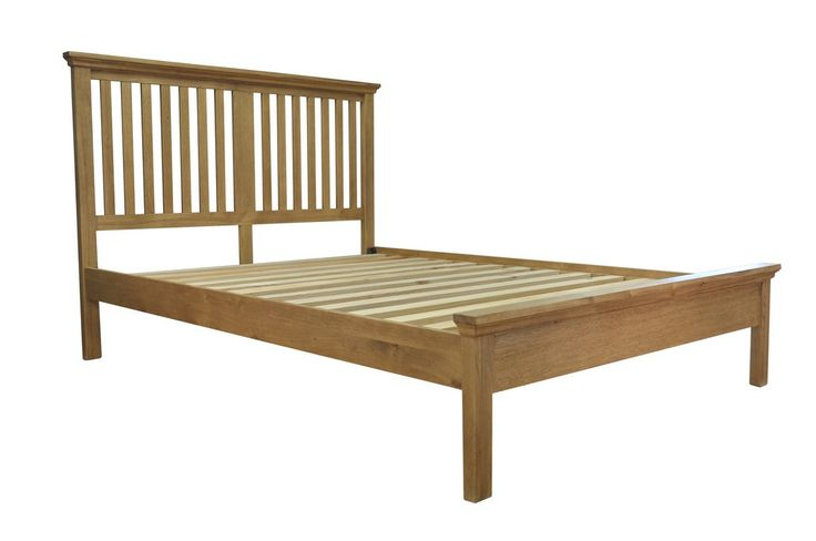 http://www.bonsoni.com/wrexham-light-oak-finish-5ft-king-size-bed-frame-by-kaldors This 5ft King Size Bed Frame is a collection of oil finished furniture offers exceptional value and lets the warmth and rich grain of much-loved oak come to the fore. A great range that ensures choice enough for every size and style of home. Dimension (H x W x D): 125 x 159 x 216cm Part of Wrexham range Minor Assembly required Material: Oak,Oak veneer,Pine,Metal Light Oak finish Metal centre rail…