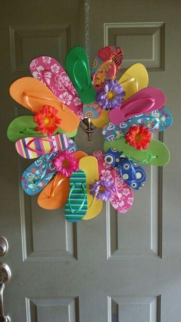 flip flop wreath home decor ideas pinterest flip