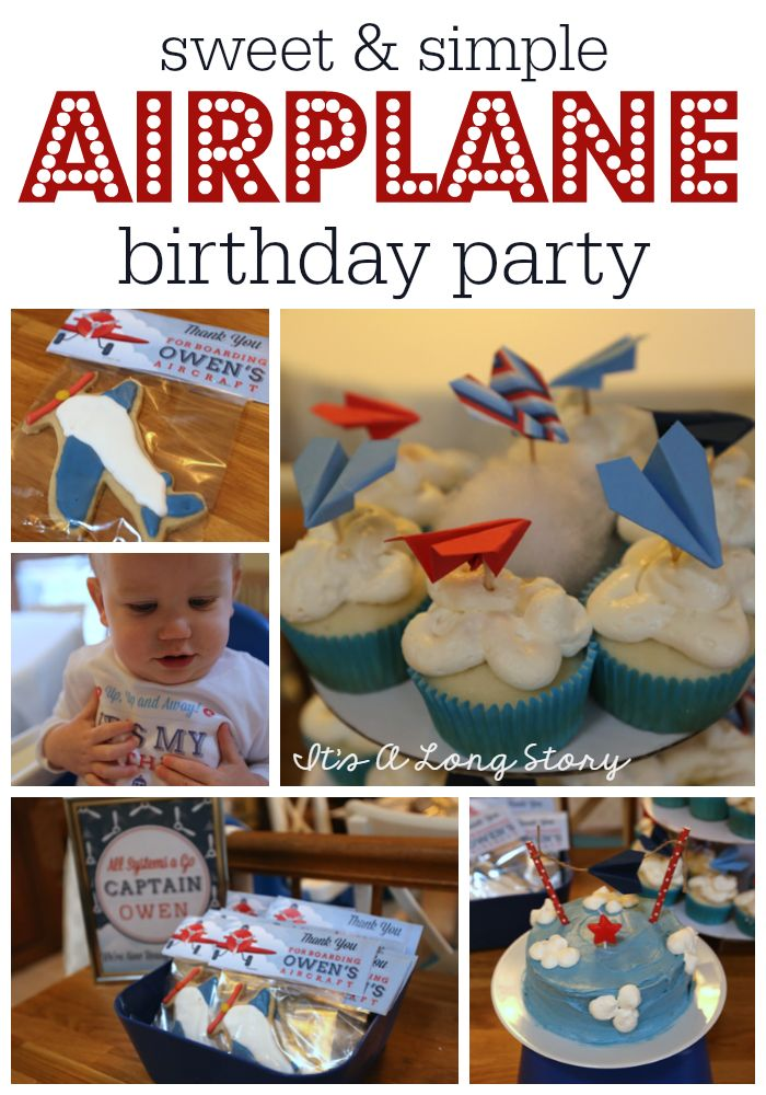 It's a Long Story: Airplane Birthday Party: Owen's Flying 1st!
