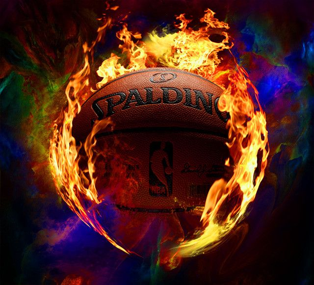 Cool Basketball Cool Basketball On Fire Layered