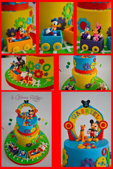 Train Mickey Mouse Clubhouse Cake - CakesDecor