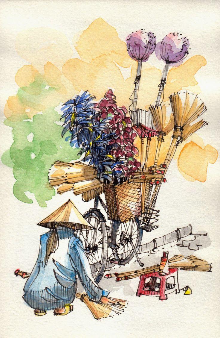 JR Sketches: Vietnam - January 2014